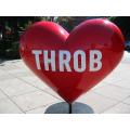 Outdoor Large Size Fiberglass Heart Sculpture