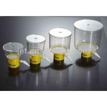 Equipamento de laboratório Filtro superior da garrafa