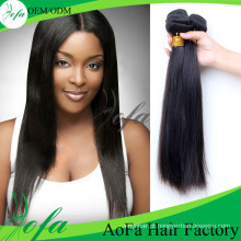 Extensão não processada do cabelo humano de Remy do cabelo do Virgin de 100%