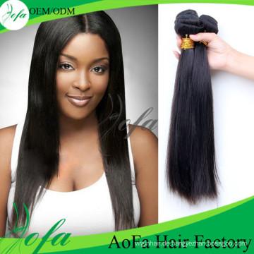 100% unverarbeitete reine Haar Remy Menschenhaarverlängerung