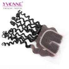 4X4 Virgin Brazilian Curly Hair Closure