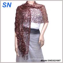 Sequin Scarf, Shawl, Wrap