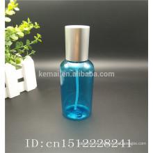 botella cosmética de spray con tapa de aluminio