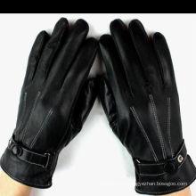 Invierno personalizada piel de oveja forrada guantes de bici