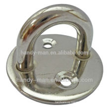 Industrial Protective Safety Stainless Steel Round Base Eye Plates