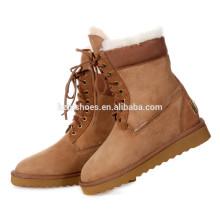 Women Boots d'hiver Bottes de sécurité en dentelle pour dames