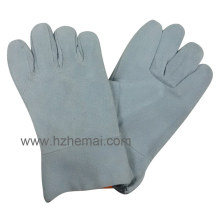Cow Split Leather Work Gloves Short Welding Work Glove