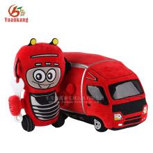 YK ICTI fábrica melhor brinquedos macios pequeno costume vermelho brinquedos de pelúcia caminhão para crianças