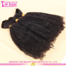 Unprocessed brazilian human hair afro kinky curly hair bulk 30 inch