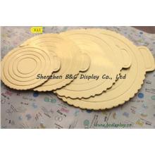 Tablero de torta acanalada del oro, tarjetas de torta en relieve, tablero cortado con tintas de la torta con el SGS (B & C-K030)