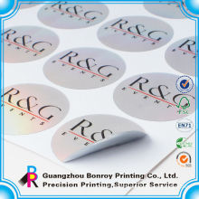 Reusable waterproof decorative tag brand adhesive label