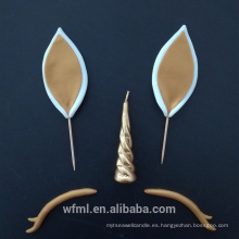 Vela de oro personalizada popular del unicornio del día de Pascua para la celebración