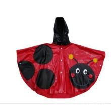 Shiny Hooded Pvc Rain Coats For Girls , Custom Pvc Rain Poncho