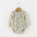 Jacquard algodón orgánico Baby Romper para el verano