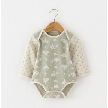 Jacquard Organic Cotton Baby Romper pour l'été