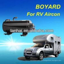 CE RoHS Auto Ar Condicionado Compressor Horizontal Rotativo para RV Caravan Ar Condicionado condicionador de ar de barraca de acampamento