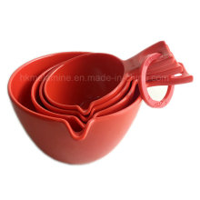 Red Melamin Messlöffel Set