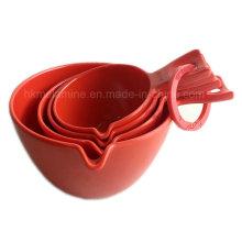 Conjunto de cuchara medidora de melamina roja