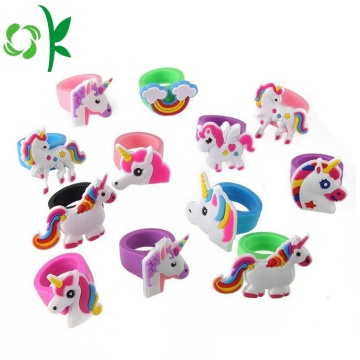 Mascot Silicone Ring Kids Kirin 3D Cartoon Ringar