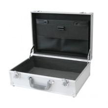 Etui pour ordinateur portable en aluminium avec poches de documents