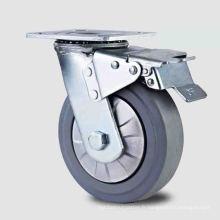 Roulette en caoutchouc résistant à haute pression à double pédale à double pédale de type lourd 2012 (KHX3-H7-A)