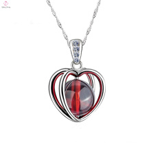 Lucky Fashion 925 Silver Heart Necklace Jewel