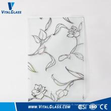 Verre décoratif / artistique givré / acide à 4,6 mm avec CE & ISO9001