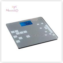 Escala de peso eletrônica de vidro do ABS 180kg (31 * 30 * 2cm)