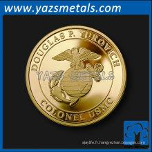 Monnaie d'or en souvenir personnalisée en cuivre haute qualité