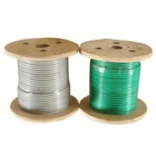 PVC de alta calidad galvanizado de la cuerda de alambre 6x19FC revestido