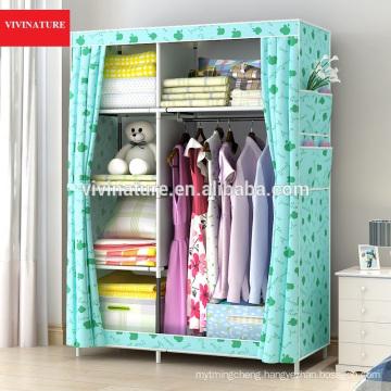 Portable Storage Organizer Wardrobe Closet With Rust Proof Steel Frame