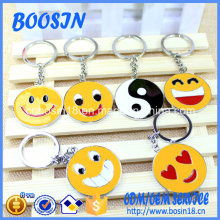 Promotional Zinc Alloy Emoji Coin Holder Key Ring