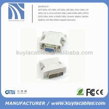 24 + 1 DVI Pin Stecker auf 15 Pin VGA Buchsenwandler DVI VGA Adapter DVI-D