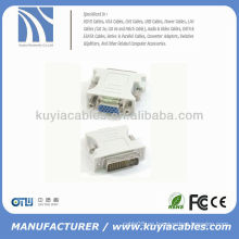 24 + 1 DVI Pin macho a 15 pines VGA hembra convertidor DVI VGA adaptador DVI-D