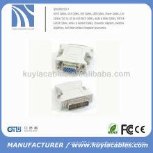 24+1 DVI Pin Male to 15 Pin VGA Female Convertor DVI VGA Adapter DVI-D