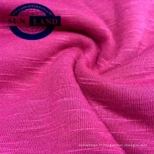 Jersey teint dans la masse, 100% polyester, tricoté 21S