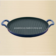 Fornecedor Preseasoned da bandeja da grelha do ferro fundido de China.