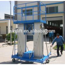 Escada de mastro de alumínio elétrico móvel ordem picker elevador