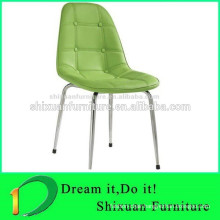 Italy design home furniture dining leather armless chair