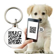 Code QR Tags imprimables personnalisés pour chiens tagdog