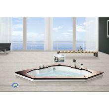 EAGO high tech bath triangle Whirlpool massage Bathtub with TV