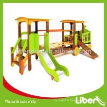 2015 New Design PE Board Kids Outdoor Playground avec une glissière en acier inoxydable