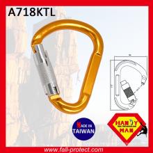 Aluminum Carabiner With Twist Lock Gate