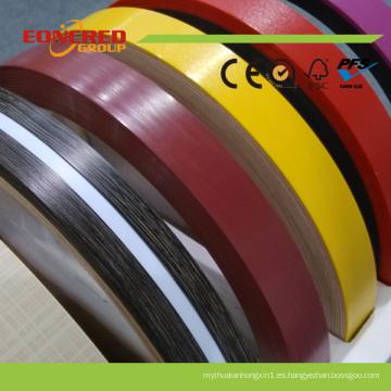 Banda del borde del PVC del grano de madera de la venta caliente con la protección fuerte