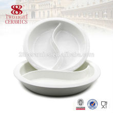 Porcelain round serving tray dishes wedding wholesale dishes for buffet