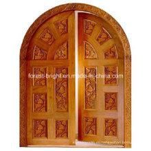 Diseño personalizado de puerta doble arqueada