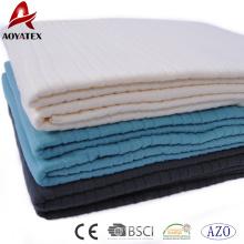 Listra bem projetada em relevo cobertor de lã polar xadrez para sofá