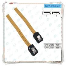 Amarillo Cable de datos Serial Sata Cable de datos de la unidad de disco duro ATA HDD