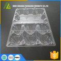 Clear plastic eggs packing tray