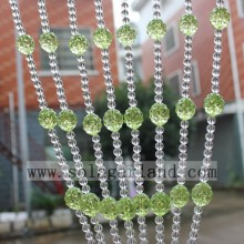 Water Green Elegant Living Room Crystal Bead Curtain